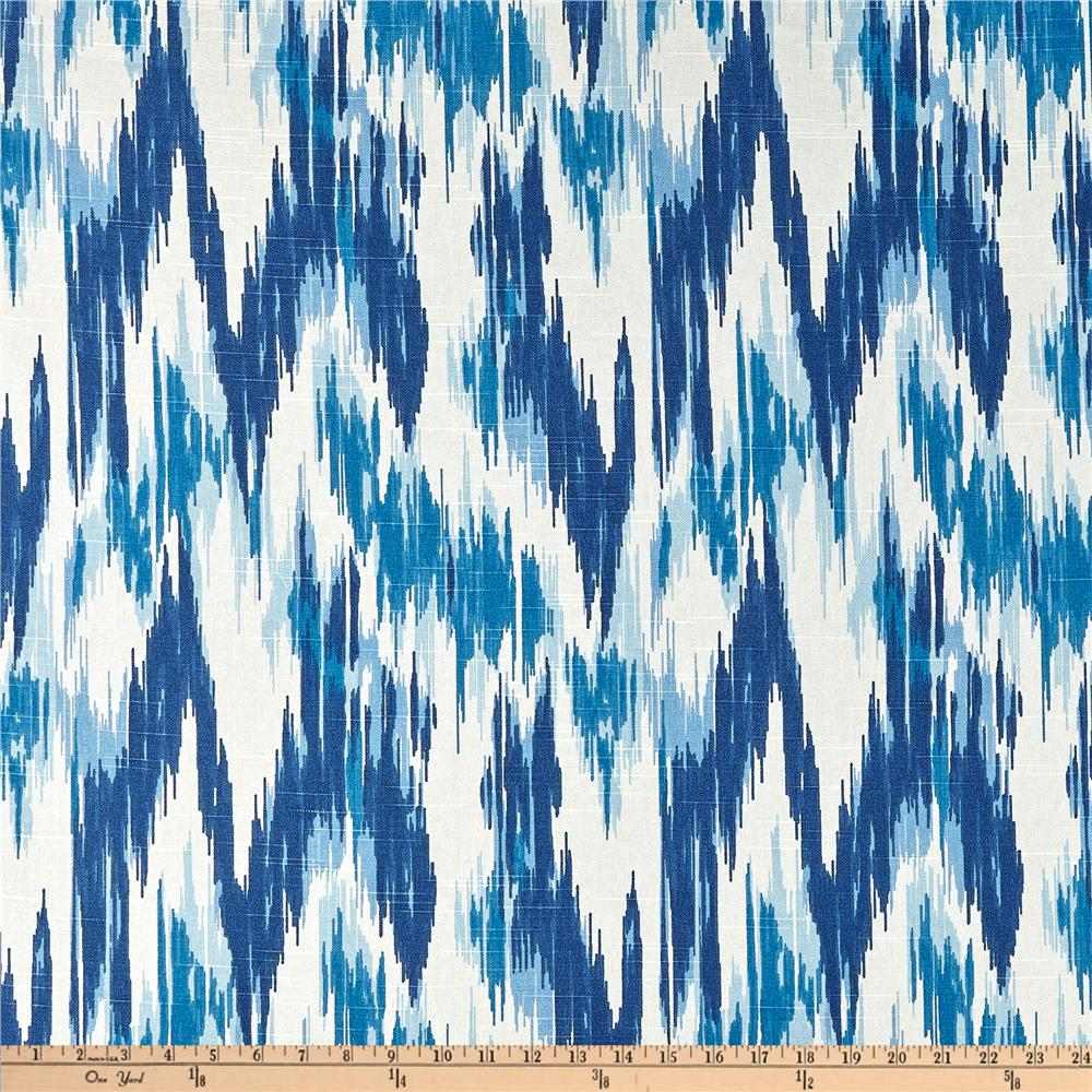 Home Accents Casbah Ikat Slub Baltic Blue   Discount Designer Fabric    Fabric.com