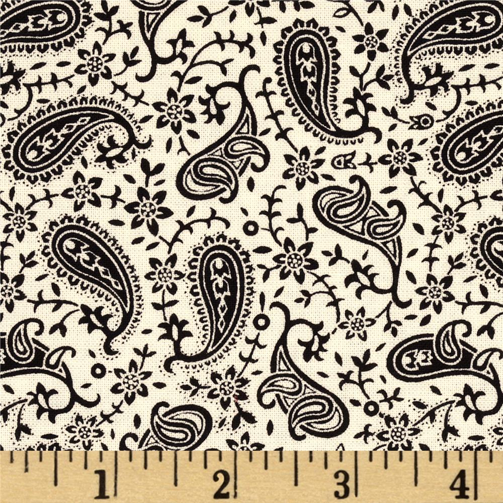 Quartette Collection Paisley Small Black