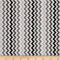 Maywood Studio Kimberbell Basics Zig Zag Gray/Black