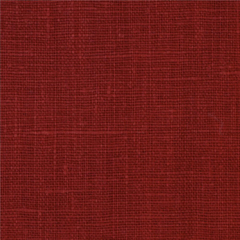 European 100 linen red oak discount designer fabric for Fabric material