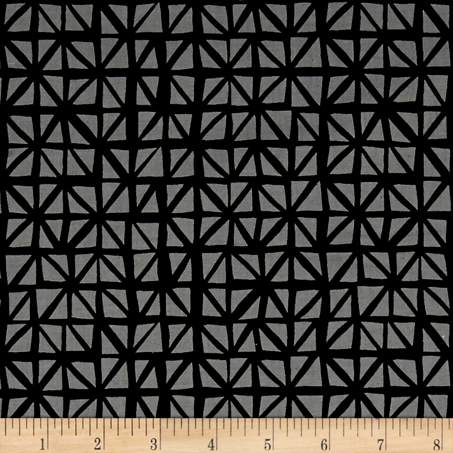 Image of Cotton + Steel Lil' Monsters Shattered Charcoal Fabric