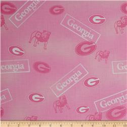 Collegiate Cotton Broadcloth Georgia Pink
