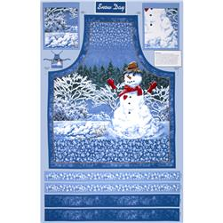 Snow Day  Scenic Apron Panel Multi