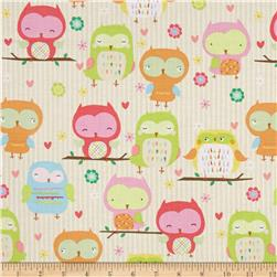 Riley Blake Owl & Co. Owl Main Cream