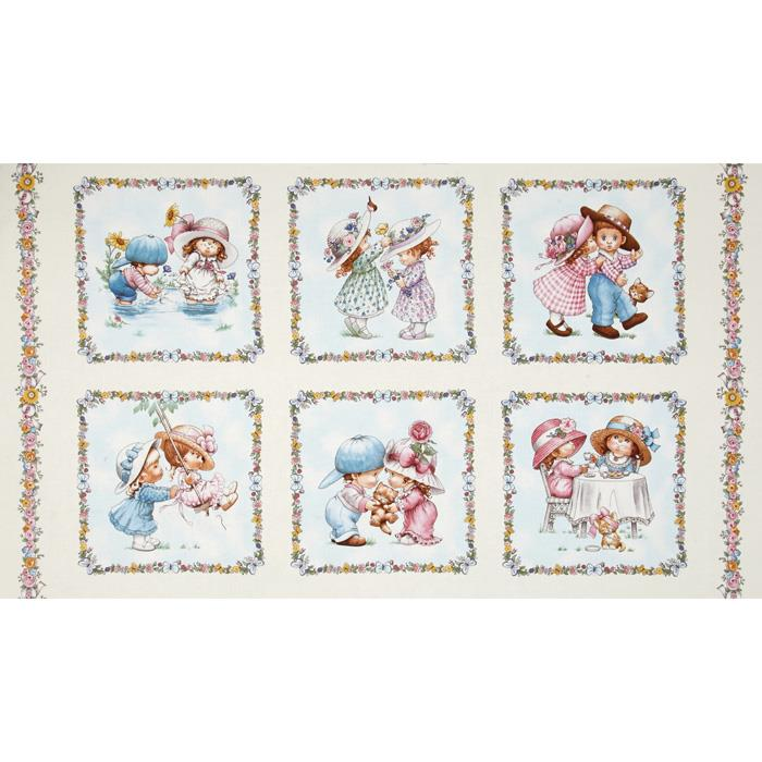 Sunbonnet Emma & Friends 24 In. Patchwork Panel