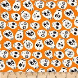Ready Set Glow In The Dark Skulls Orange