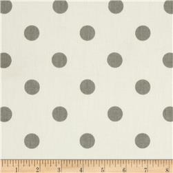 Premier Prints Polka Dots Twill White/Storm Fabric