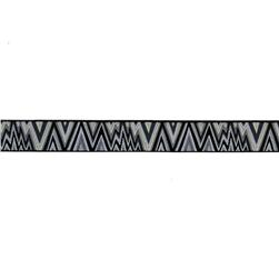 7/8'' Kaffe Fasset Flame Stitch Ribbon Black/White