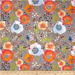 Flora by Kelly Ventura Wildflower Lawn Soft Grey