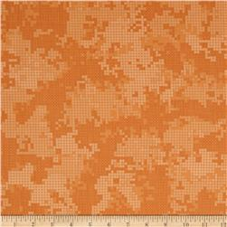 Flyboy Camo Dots Coral/Orange Fabric