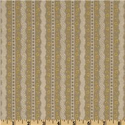 Tudor Lane Stripe Taupe/Yellow