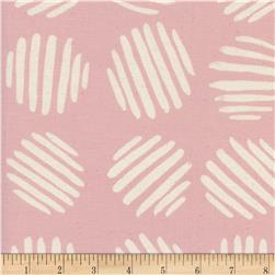 Cotton + Steel Panorama Sunrise Coin Dots Cotton Candy