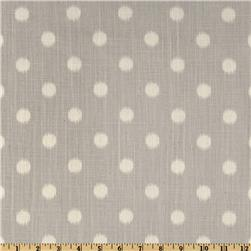 Premier Prints Ikat Dots Dossett Slub Grapevine/Grey Fabric