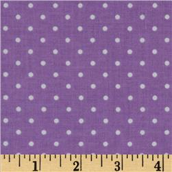 Michael Miller Pinhead Dot Purple Fabric