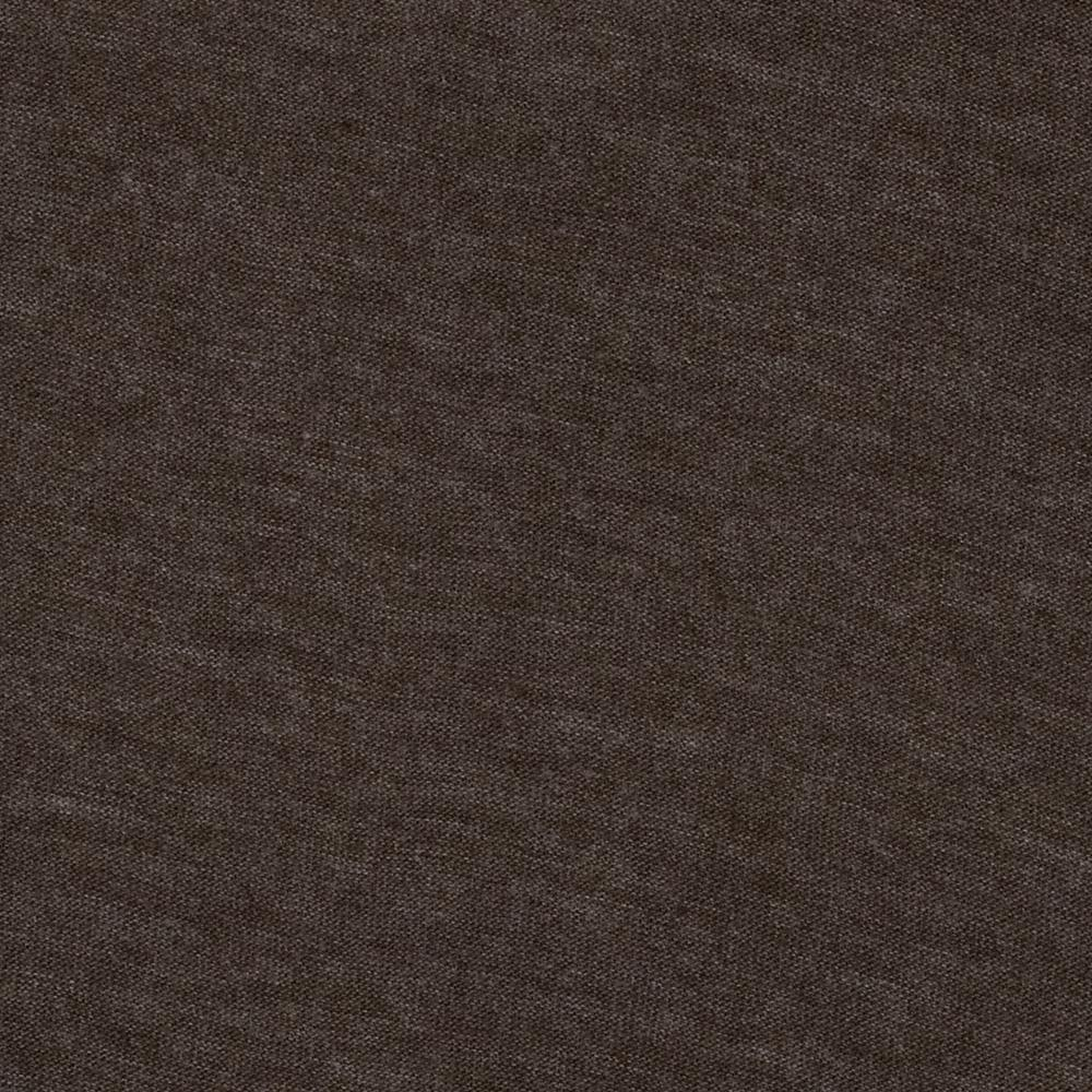 Cotton Poly Jersey Knit Heather Brown