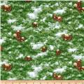 Holiday Pups Pine Cones Green