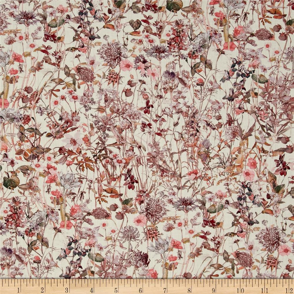 Liberty of London Wild Flowers Lawn Cream/Pink/Lavender