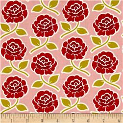 Riley Blake Farm Girl Rose Trellis Pink