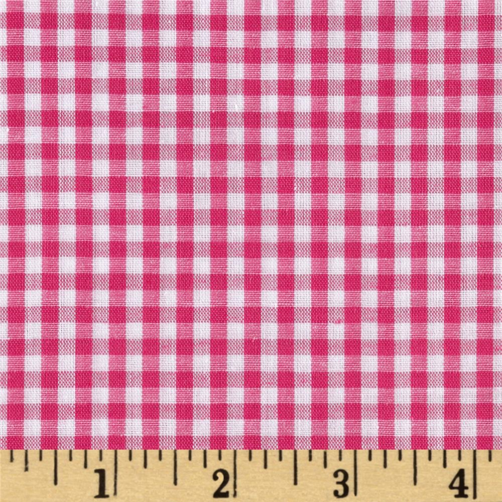 "Richcheck 60"" Gingham Check 1/8"" Fuchsia"