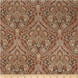 Jaclyn Smith Paisley Tapestry Jacquard Spicewood