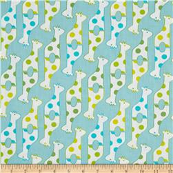 Savanna Bop Giraffes Light Blue