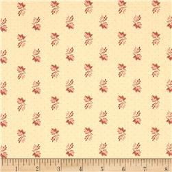 Moda Collection for a Cause Mill Book Little Leaves Antique Cream