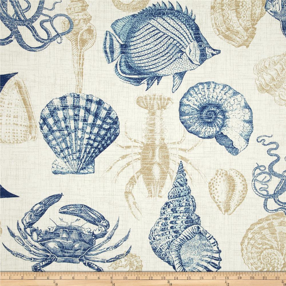 Discount outdoor fabric by the yard - Richloom Solarium Outdoor Sealife Marine Discount Designer Fabric Fabric Com