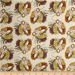 Benedictus Feather Tan Fabric