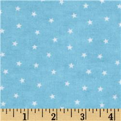 Bears and Buddies Flannel Stars Blue