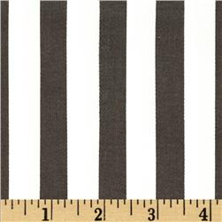 Harlequin Stretch Cotton Sateen Stripe Brown/White Fabric