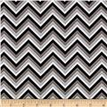 Ink Blossom Chevron Grey
