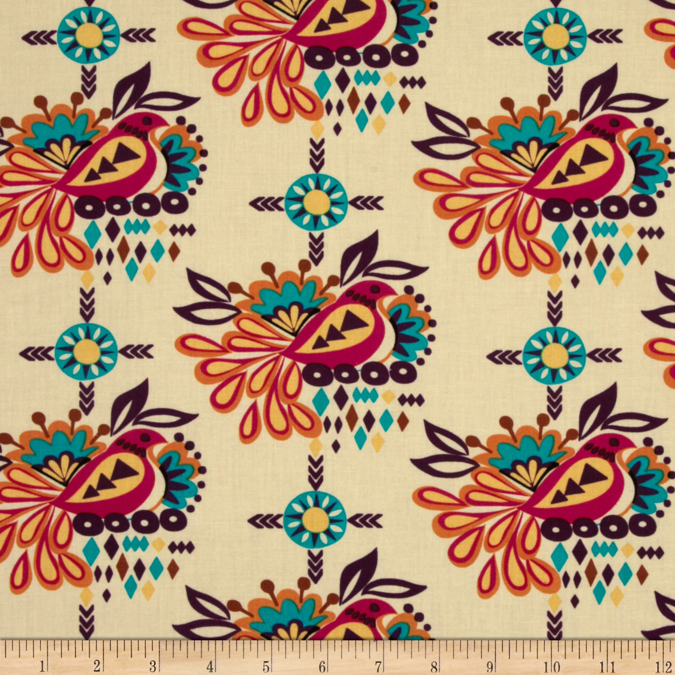 Sierra Bird Medallion Summer Fabric