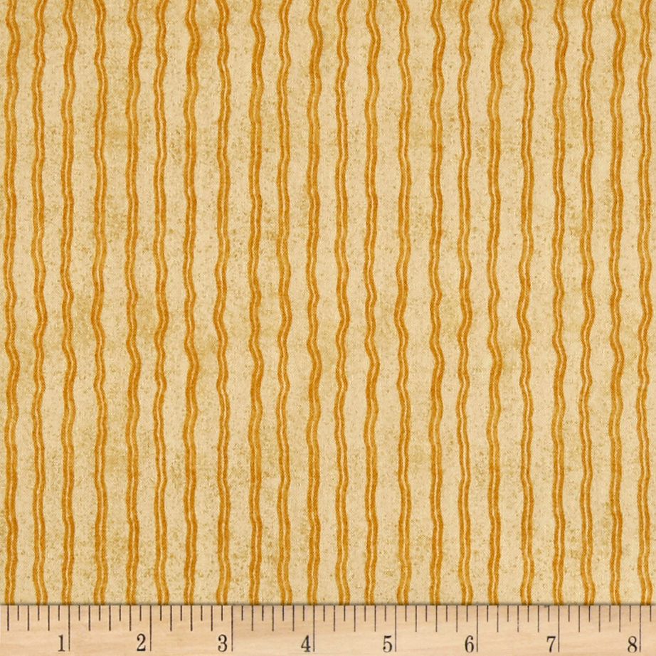 QT Fabrics Hungry Animal Alpha Stripe Ochre
