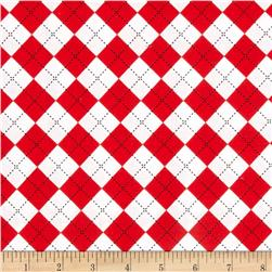 Remix Argyle Red Fabric