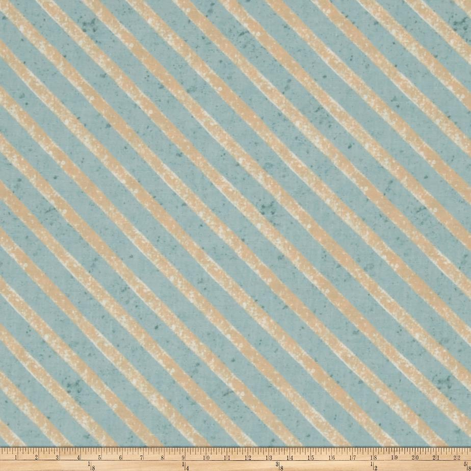 Woodland Holiday Stripe Blue