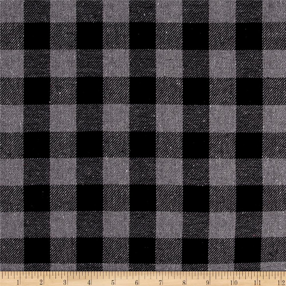 Yarn Dyed Flannel Plaid Black/Grey