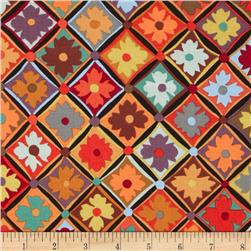Kaffe Fassett Antwerp Flowers Brown Fabric