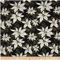 Winter Memories Metallic Poinsettia Black