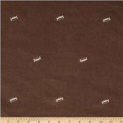 Embroidered 21 Wale Corduroy Football Hazelnut/Brown