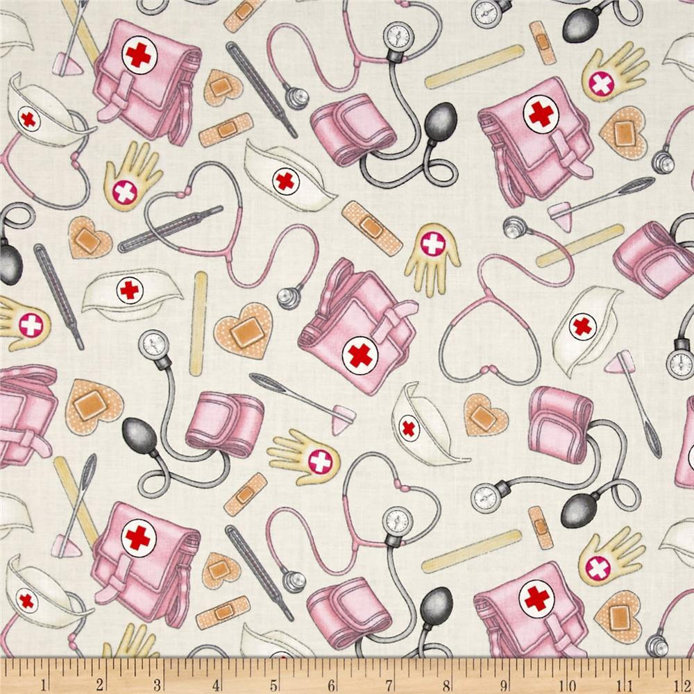 What The Doctor Ordered Nursing Toss Fabric Oatmeal