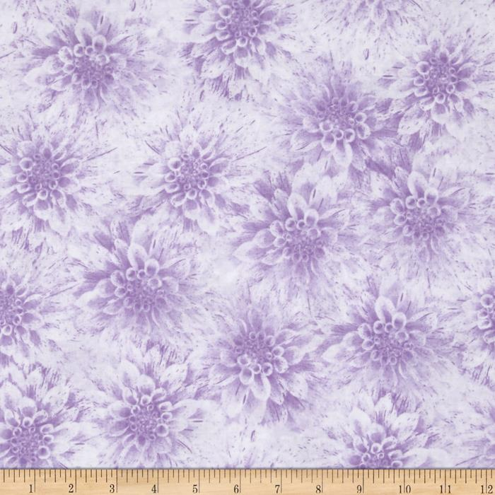 Shades of Dahlias Floral Texture Light Purple