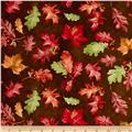 Colors of Fall Tossed Leaves Brown