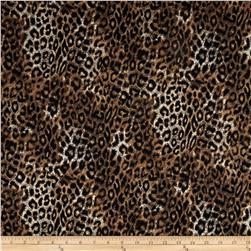 Timeless Treasures Wild World Flannel Jaguar Brown