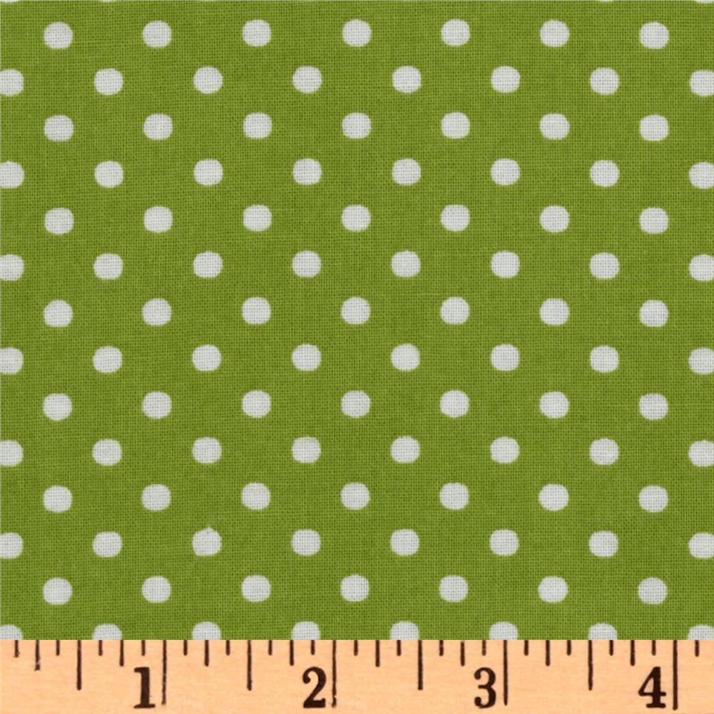 Crazy for Dots & Stripes Dottie Lime