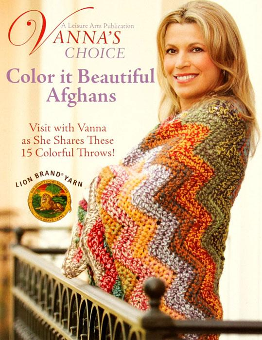 "Leisure Arts ""Vanna's Choice Color It Beautiful Afghans"" Book"