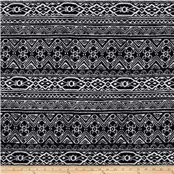Quilted Knit Aztec Geo Black/White