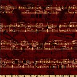 All That Jazz Music Montage Red Fabric