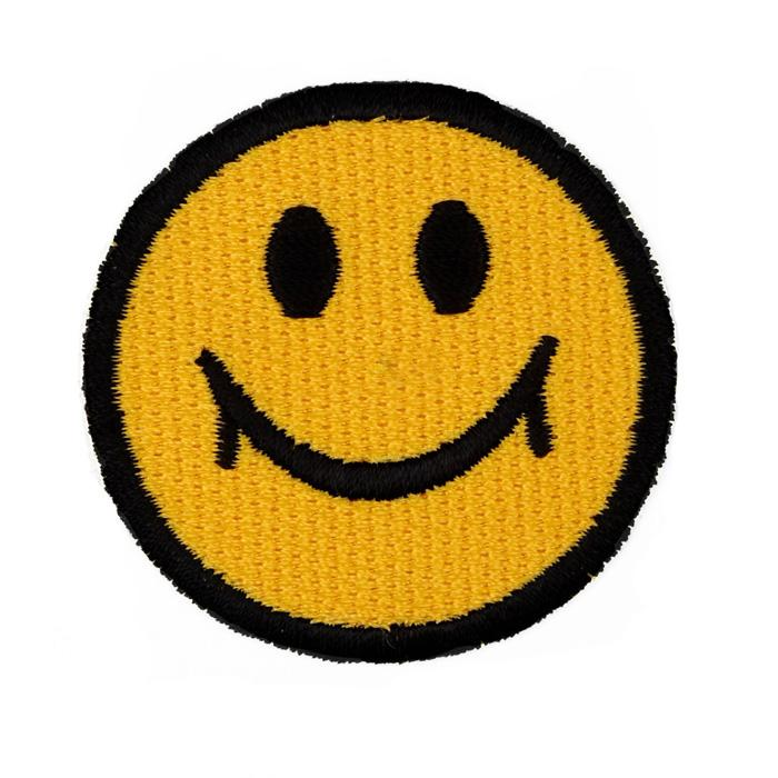 Boutique Applique Happy Face Yellow/Black