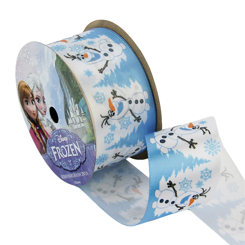 1 1/2'' Frozen Ribbon Olaf Snowy White 3YD Spool