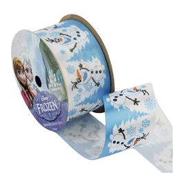 1 1/2'' Frozen Ribbon Olaf Snowy White 3YD